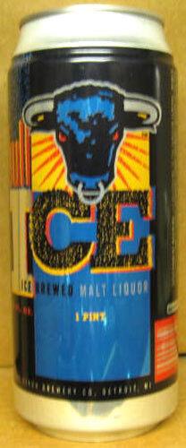 BULL ICE MALT LIQUOR Stroh Brewing Detroit Grade 1//1+ MICHIGAN 16oz Beer CAN