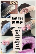 Mothercare orb, spin hood fur trim, journey fur hood trim, pram pushchair