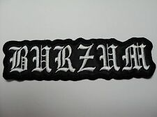 1BURZUM SHAPED LOGO     EMBROIDERED PATCH