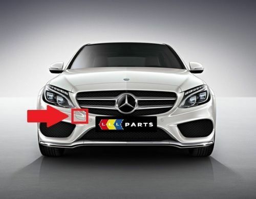 MERCEDES MB C W205 AMG FRONT TOW HOOK EYE COVER PAINTED BY YOUR COLOUR CODE