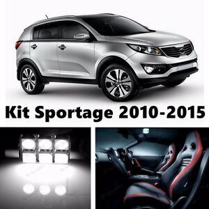 10x White Car LED Light Package Kit Replacement For Kia Sportage 2010-2016