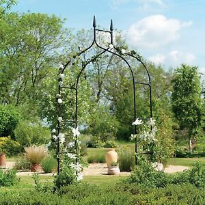 Image Is Loading Gardman Gothic Black Garden Arch Outdoor Metal Rose