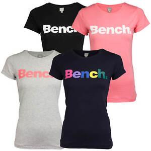 17f34396148853 Bench. Damen T-Shirt Shirt Top Label Print Rundhals-Ausschnitt Basic ...