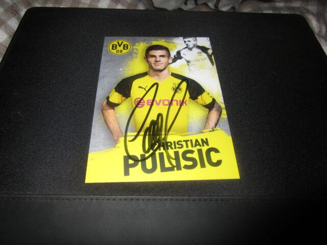 Christian Pulisic Borussia Dortmund, BVB Belgien 2018/19 18/19 HANDSIGNIERT !!!