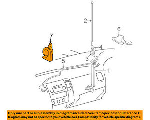 Cool Toyota Oem 05 15 Tacoma Horn 8651004020 Ebay Wiring Cloud Oideiuggs Outletorg