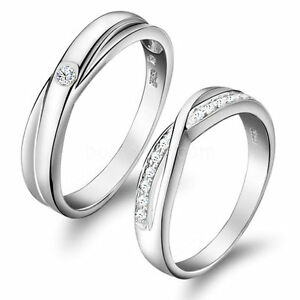Image Is Loading Love Infinity Promise Engagement Wedding Ring Men 039