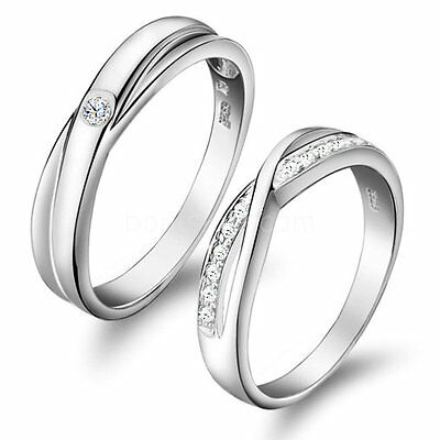 Love Infinity Promise Engagement Wedding Ring Men's Women's Couples Wedding Band