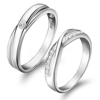 Love Infinity Promise Engagement Wedding Ring Men's Women's Couples Wedding Band