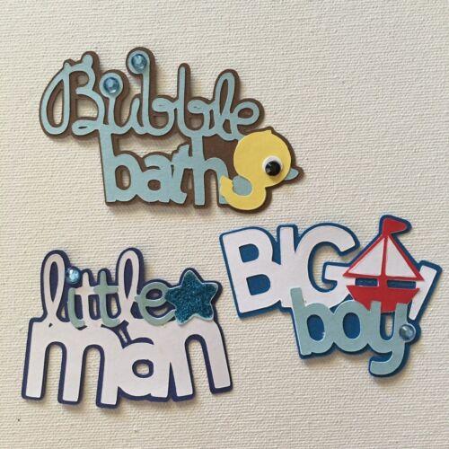 Baby Boy Die Cuts Embellishments Scrapbook Card Topper Crafts Paper Piecing