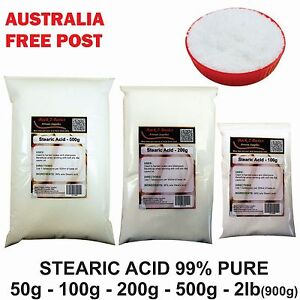 Details about Stearic Acid - 50g to 900g - Emulsifier wax Vegetable soap  candle making
