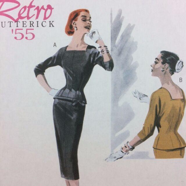 Wiggle Pencil Skirt Lined Top Butterick Pattern 5557 Uncut Retro 14-20 Waist Nip