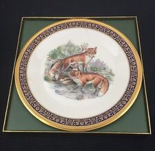 """Lenox Boehm Woodland Wildlife 10-3/4"""" Plate Red Foxes 1974"""
