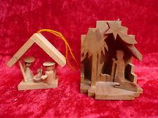 2 schöne,alte Weihnachtskrippen__Holz__Handarbeit__Baumschmuck...__!