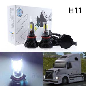 Pair White LED H11 Low Beam Headlight Bulb For Volvo VNL VNM 630 670 on volvo vn670, volvo vnl42t, volvo vnl, volvo vnl64t610, volvo vnl42t300, volvo wg42t, volvo autocar acl64, volvo wg64t, volvo trucks, volvo vnl780,