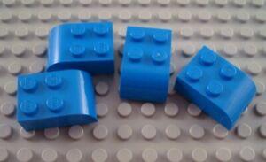 LEGO New Lot of 8 Medium Azure 3x2 Curved Foot Brick Pieces