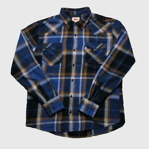 Mens-Vintage-Levis-Check-Shirt-Large-Long-Sleeve