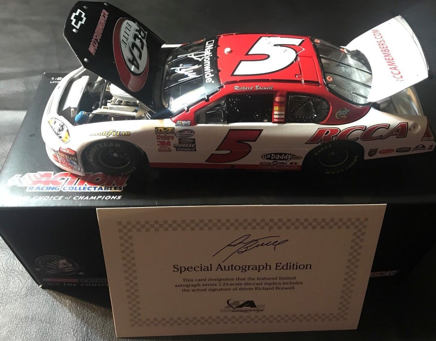 NASCAR Richard Boswell RCCA 2009 Impala SS SS SS Autographed 1 24 Scale Diecast 1fbe74