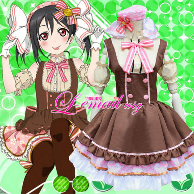 e5d849e0d6 Lolita Costume Anime Cosplay Love Live! Lovelive Uniform Maidservant Tutu  Dress