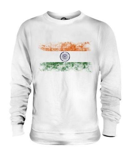 INDIA DISTRESSED FLAG UNISEX SWEATER TOP BHAROT BHARATA BHARAT INDIYA INDIAN