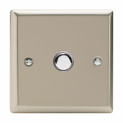 Varilight XNP1 Chrome Satiné 1 Gang 6 A 1 ou 2 Way Push-on//off Impulse Switch