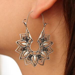 Fashion-Lady-Metal-Earring-Lotus-Flower-Drop-Dangle-Earrings-Jewelry-Gift