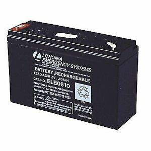 This is an AJC Brand Replacement Battery 6V 10Ah Emergency Light Battery Lithonia ELB0610