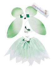 Childrens Green Fairy Set Wings Tutu Tinkerbell Magical Princess Fancy Dress