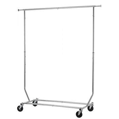 100 LB Heavy Duty Commercial Grade Clothing Garment Rolling Collapsible Rack R01