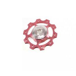 Circus Monkey Rear Derailleur Jockey Pulley Pink Light//10T 10g