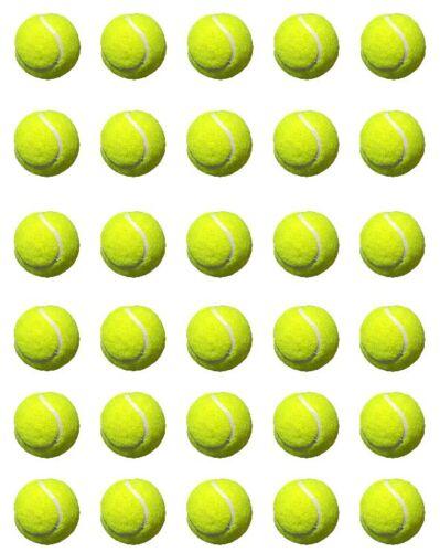Balle de tennis Comestibles Cupcake toppers pré couper décoration Papier Riz Gaufrette
