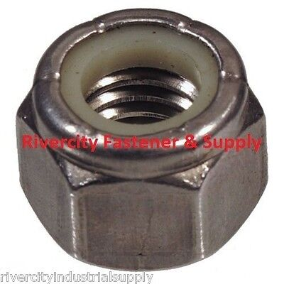 (100) M3-0.5 OR M3 Coarse Thread Nylon Insert Lock / Stop Nut Stainless Steel