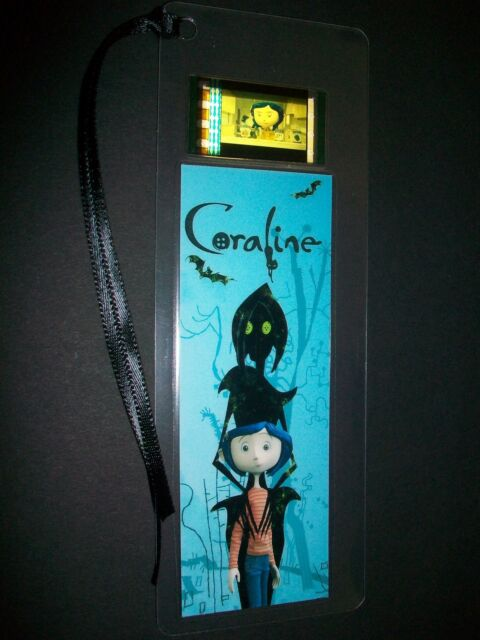 Coraline Movie Film Cell Bookmark Memorabilia Compliments DVD Poster VHS