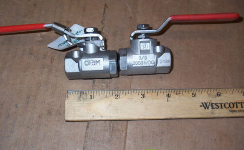 "NEW CONTROMATIC CF8M 3//8 2000 WOG 3//8/"" BALL VALVE 1 PER BUY"