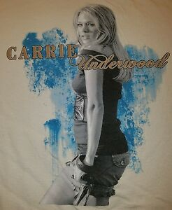 Carrie-Underwood-Rare-T-shirt-Country-Music-Female-American-Idol