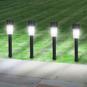 Details About Led Deck Lights Garden Solar Stake Post Gr Outdoor Driveway Border Patio Lawn