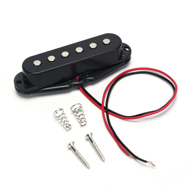 1pc Black Single Coil Sound Pickup for 6 Strings Electric Guitar Harmonious HF