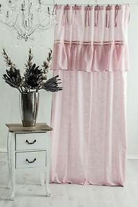 sofia rosa vorhang gardine 140x240cm volant spitze franske landhaus shabby chic ebay. Black Bedroom Furniture Sets. Home Design Ideas