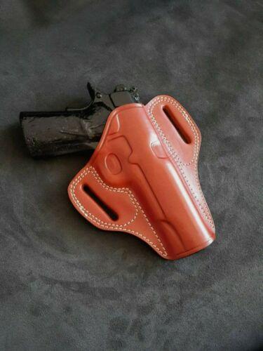 Leather Owb Combat Master Holster for Colt 1911 5/'/'  Choose Color /& R//L