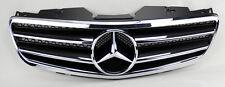 Mercedes SL Class R230 2 Fin Front Black w/ Chrome Hood Sport Grill W230