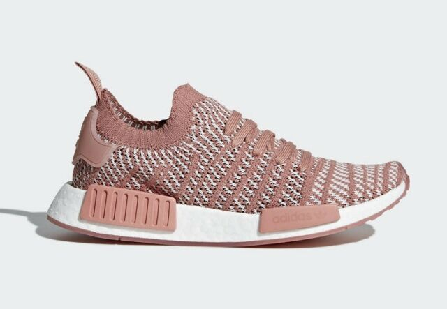 new product 85ec2 d5970 Adidas Women s NMD R1 STLT PRIMEKNIT Shoes Ash Pink Orchid Tint White CQ2028  c