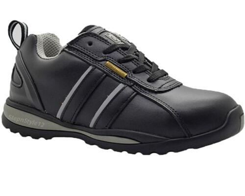 New Men Black Leather Composite Toe Cap Work Safety Trainers Boots Shoe  SZ 6-14
