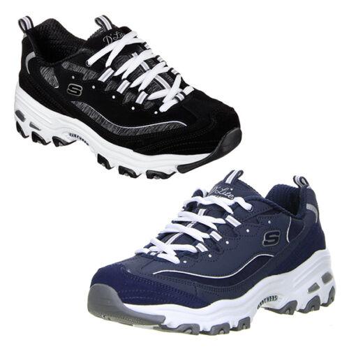 d0bf9de6aad3 Sport Låg Sko D Lites Walking Black Sneakers Dame Navy Skechers New  tw14RqHWn