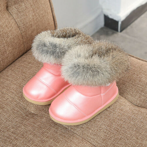 Winter Toddler Baby Shoes Kids Boys Girl Child Leather Booties Snow Shoes Boots