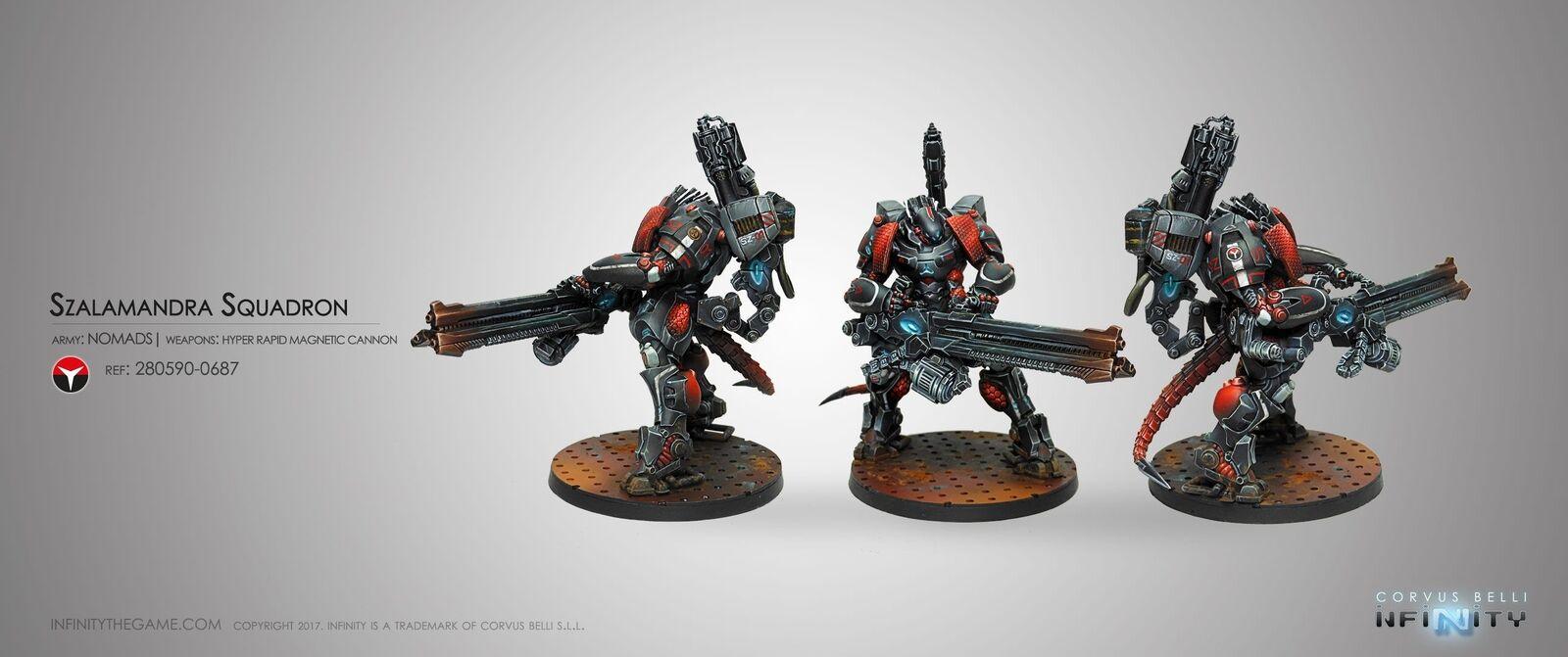 Infinity Nomads Szalamandra Squadron Corvus Belli Inf 280590 Tag T. A.G