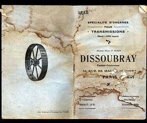 PARIS-XI-TRANSMISSIONS-PIECES-MECANIQUES-034-OUDIN-DISSOUBRAY-034-CATALOGUE-1920