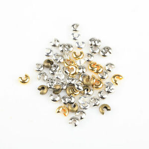 200pcs-Silver-Gold-Plated-Crimp-Beads-Knot-Covers-Jewelry-Making-3-4-5mm-Lot