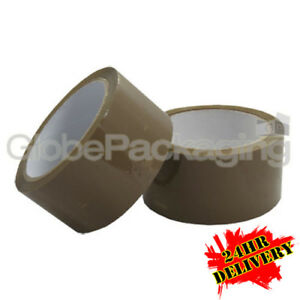 36 rolls of brown packing packaging tape 48mm x 66m 5055502347066 ebay