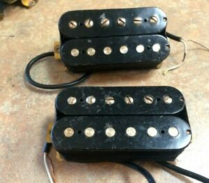 Two Vintage 1980s Yamaha Japan Humbucker Electric Guitar Pickups