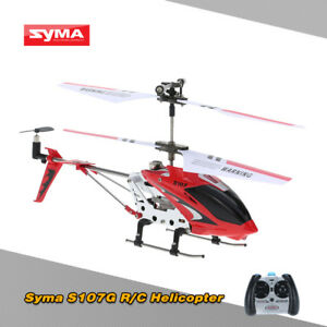 100% SYMA S107G Red Mini Metal Radio Control Helicopter Gyro RC 3 Channel T6S0