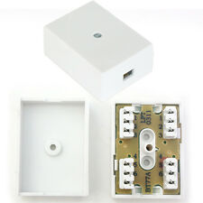 3 Pair/6 Way IDC Junction Box –BT Telephone/Phone Cable Coupler Socket Connector